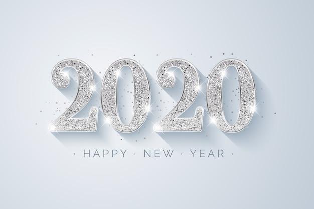 銀の新しい年2020年の背景