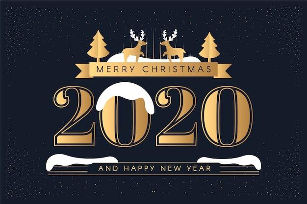 Винтаж новый год 2020 фон