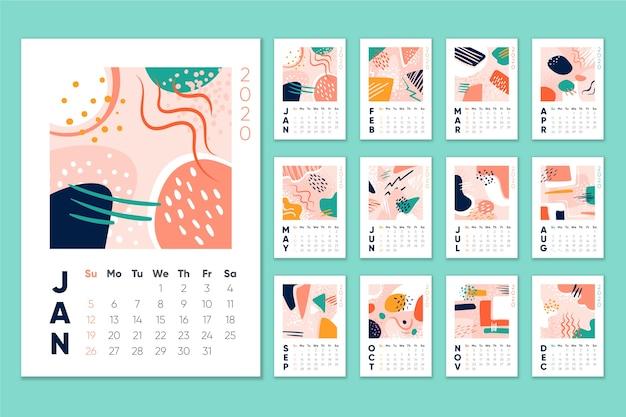 Ежемесячный календарь календаря 2020