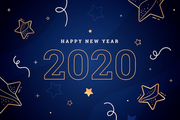 Новый год 2020 фон в стиле структуры