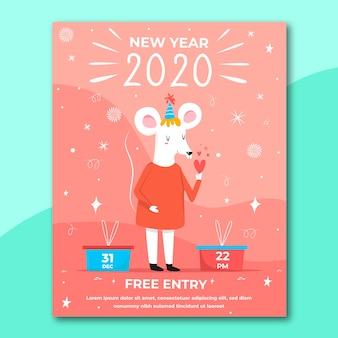 Ручной обращается новый шаблон 2020 года флаер