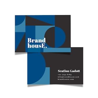 Цвет абстрактной визитной карточки 2020 года