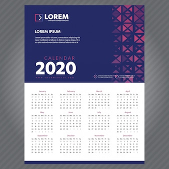 Новогодний календарь 2020 шаблон