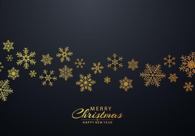 黄金の雪で飾られた2020年のグリーティングカードの背景