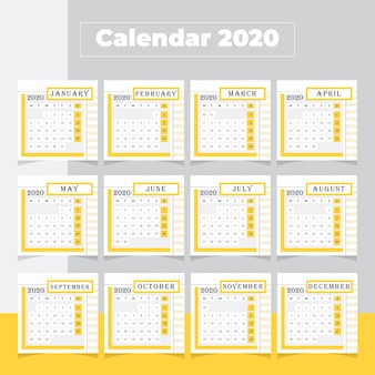 Минимальный календарь 2020