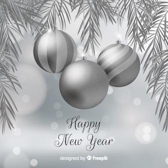 Красивый серебряный новый год 2020