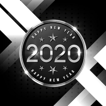シルバーハッピーニューイヤー2020