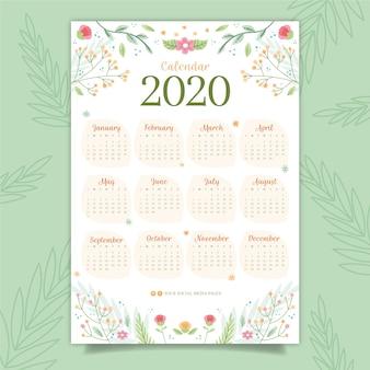 カラフルなカレンダー2020