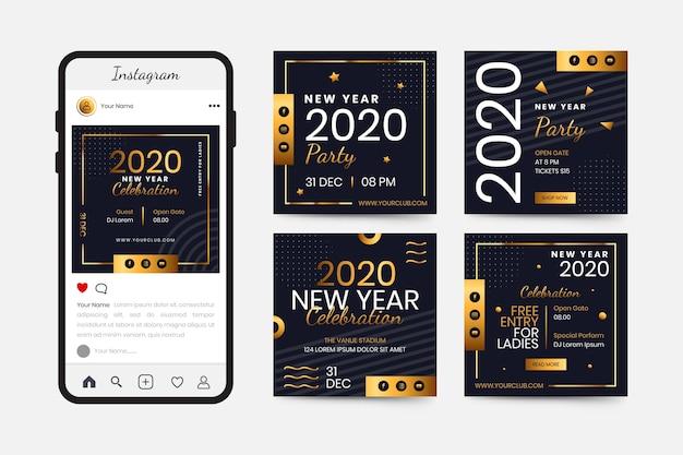 Коллекция постов в инстаграм новогоднем 2020