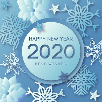 Новый год 2020 фон с реалистичной золотой отделкой
