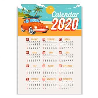 2020年夏のカレンダー