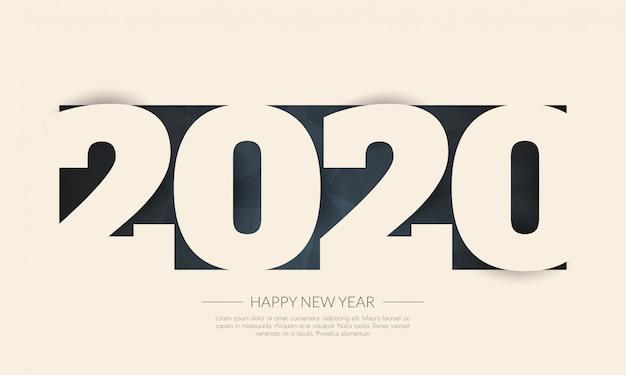 С новым годом 2020. поздравительная открытка. абстрактные