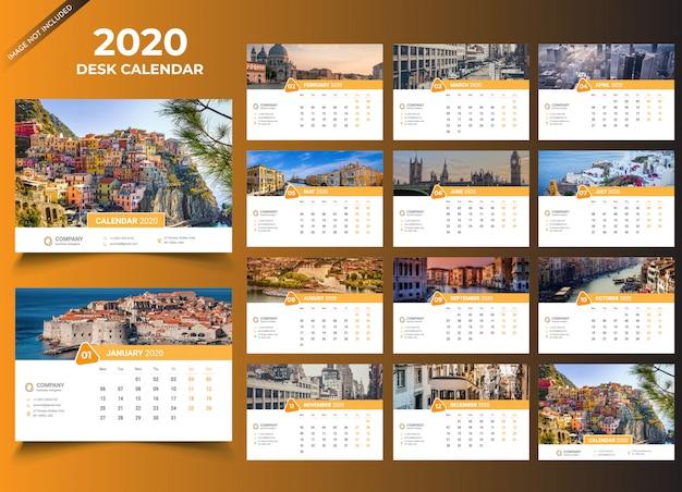 Шаблон настольный календарь 2020