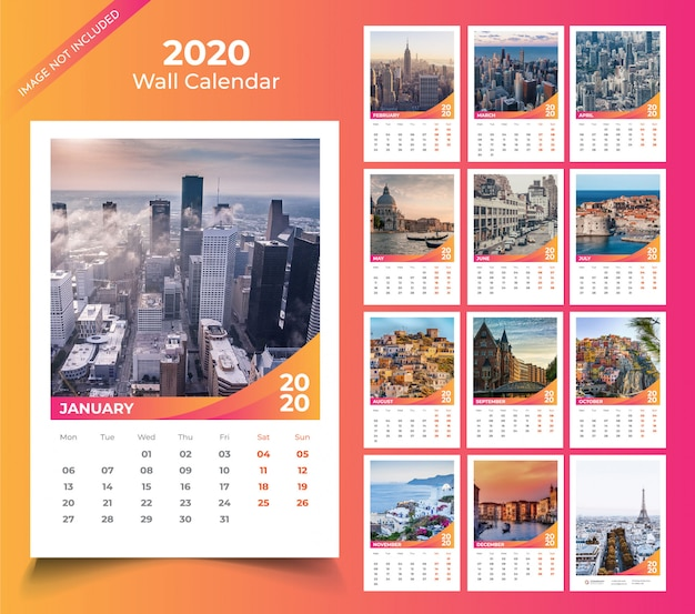 Настенный календарь на 2020 год