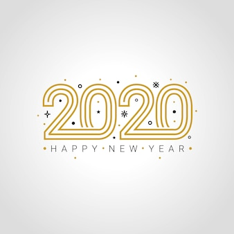 С новым годом 2020 элегантная открытка