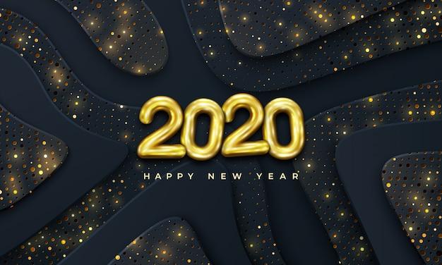 С новым 2020 годом с сочетанием ярких точек.