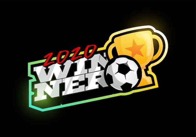 勝者2020サッカーロゴ