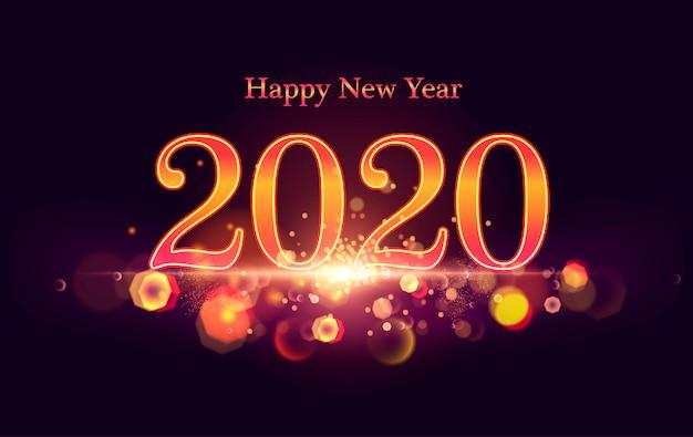 新年2020。シャイニング。