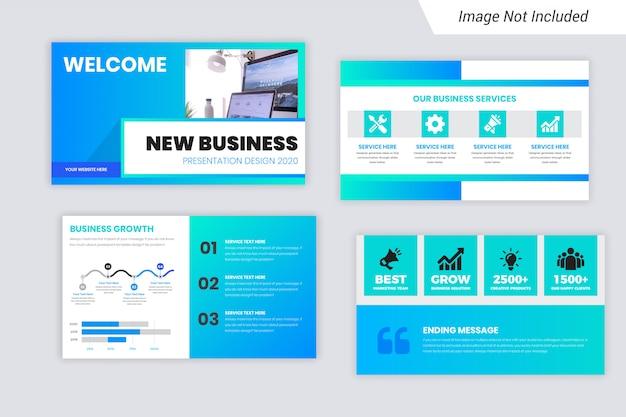 Презентация нового бизнес-шаблона - 2020