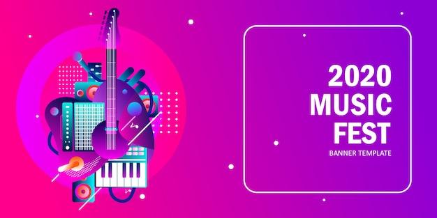 Шаблон музыкального баннера 2020