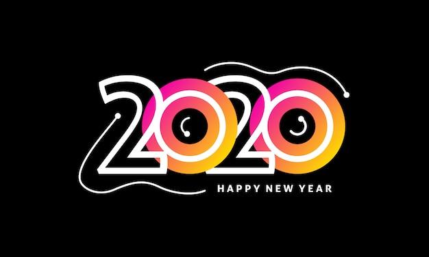 2020年の新年のロゴ