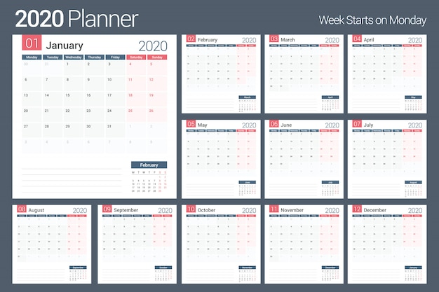 Планировщик календаря 2020