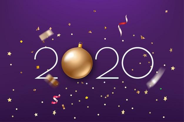 幸せな新しい2020年の背景