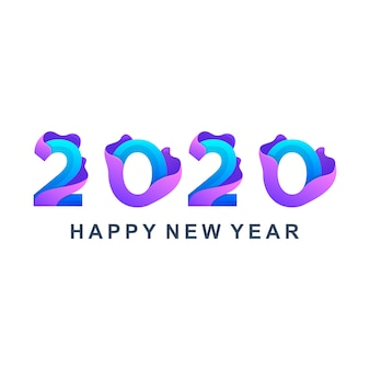 カラフルな新年あけましておめでとうございます2020