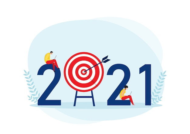 2021 business plan and  target achievement concept
