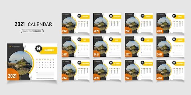 2021 calendar template design.