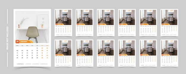 2021 calendar template with photo