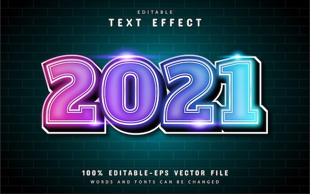 2021 colorful text effect