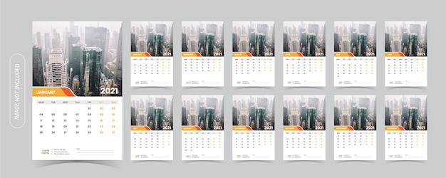 2021 desk calendar illustration