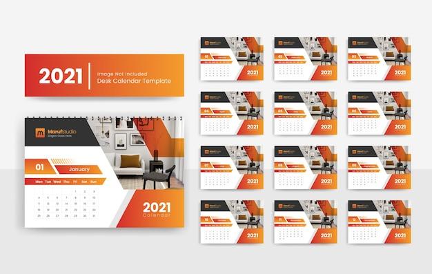 2021 desk calendar template for real estate company