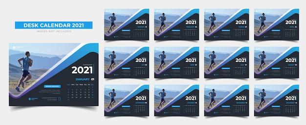 2021卓上カレンダーテンプレート