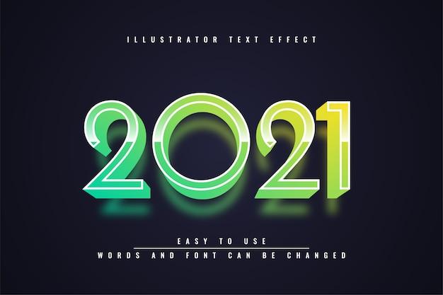2021 - эффект редактируемого текста