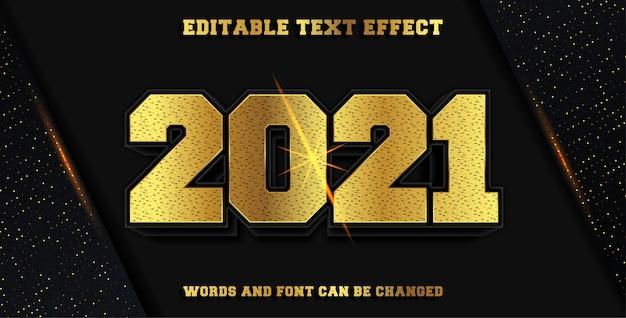 2021 gold editable font effect