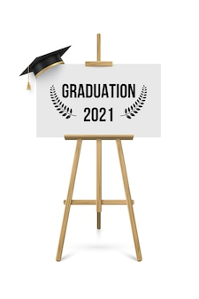 2021 graduation ceremony banner, award concept