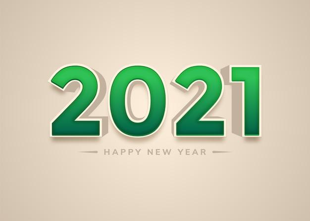 С новым годом 2021 года 3d-стиль надписи