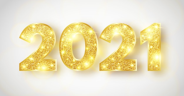 2021 happy new year background. luxury sparkling numbers.