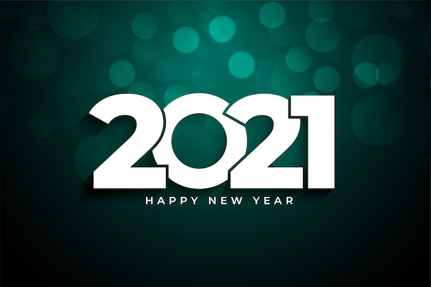 2021 happy new year bokeh background celebration
