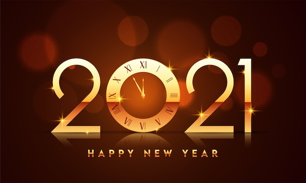 2021 happy new year concept illustration