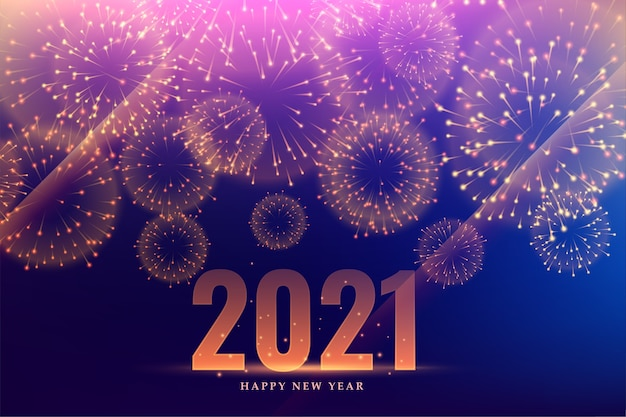 2021 happy new year fireworks celebration event background