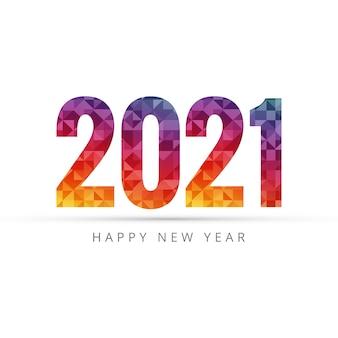 Fondo di saluto di felice anno nuovo 2021