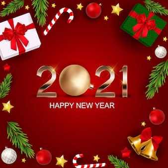 2021 happy new year holiday background. vector illustration