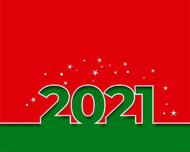 2021 happy new year red and green background