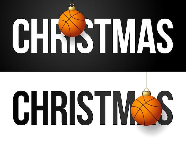 С новым годом 2021 спортивная открытка с баскетбольным мячом