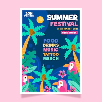 2021illustrated music festival poster