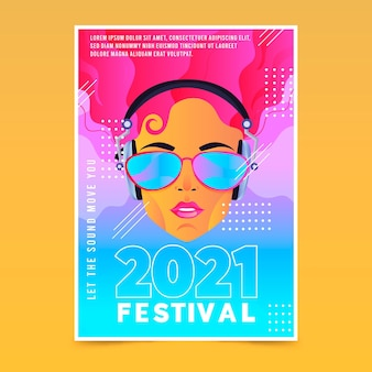 2021 illustrated music festival poster