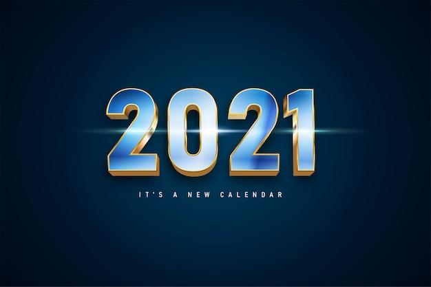 2021年それは新しいカレンダーの背景です